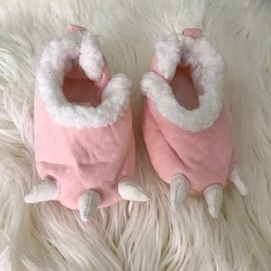 Just for You Carters Pink Monster Feet Slippers